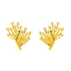 Valentin Magro Multi-Flame Motif Gold Earrings