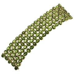 Valentin Magro Multi-Row Oval Peridot Bracelet