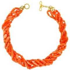 Valentin Magro Multi-Strand Angel Skin Elongated Coral Nuggets Necklace