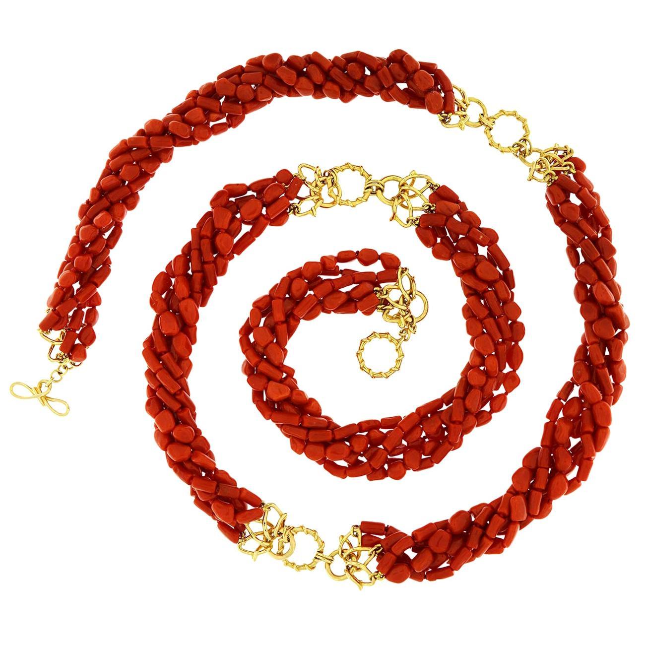 Valentin Magro Multi Strand Memmetti Coral Necklace