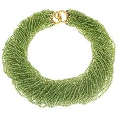 Valentin Magro Multi-Strand Peridot Beads Necklace