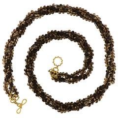Valentin Magro Multi Strand Smokey Quartz Necklace