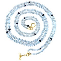 Valentin Magro Multi Strands Blue Topaz and Sapphire Necklace