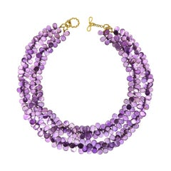 Valentin Magro Multi Strands of Faceted Amethyst Briolettes Necklace