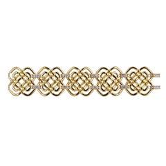 Valentin Magro Open Weave Bracelet with Pave Diamonds