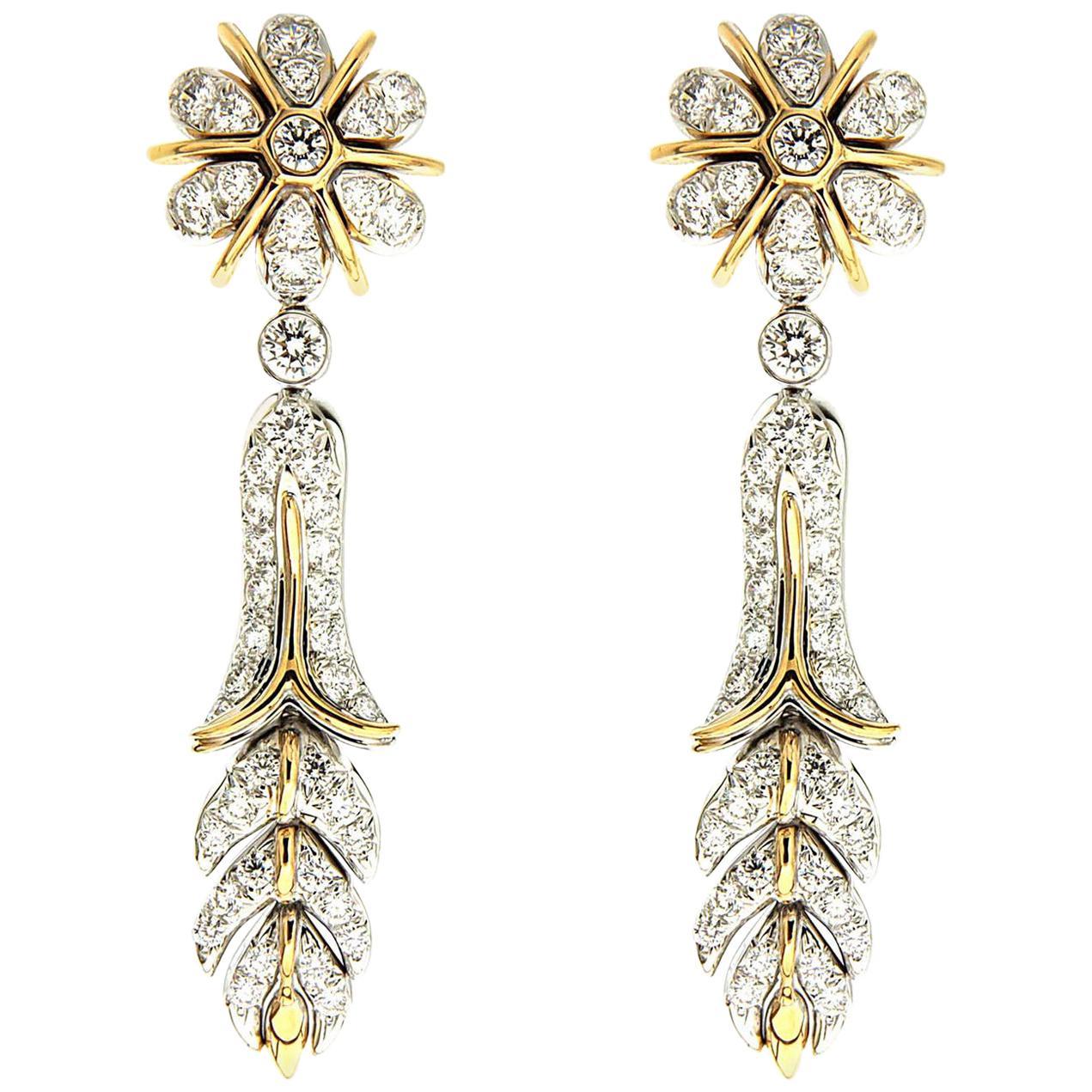 Valentin Magro Orchidea Floral Drop Earrings
