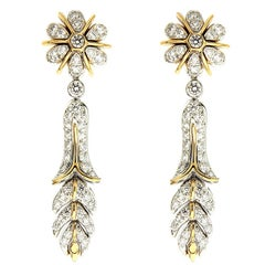 Valentin Magro Orchidea Floral Drop Earrings
