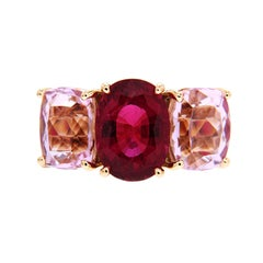 Valentin Magro Oval Rubelite and Kunzite Ring