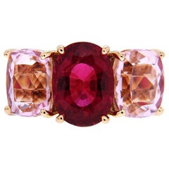 Valentin Magro Oval Rubellite and Kunzite Ring