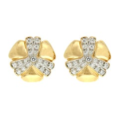 Valentin Magro Pavé Diamond Gold Mercedes Earrings