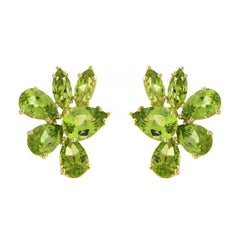 Valentin Magro Pear and Marquise Peridot Earrings