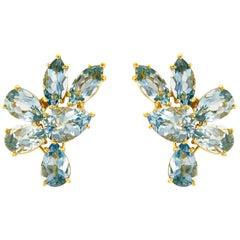 Valentin Magro Pear Marquise Aquamarine Cluster Earring