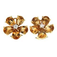 Valentin Magro Pear Shape Citrine Cluster Earrings