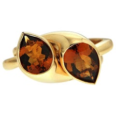 Valentin Magro Pear Shape Puzzle Madeira Citrine Ring