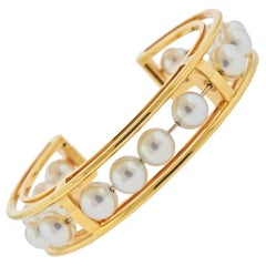 Valentin Magro Pearl Gold Cuff Bracelet