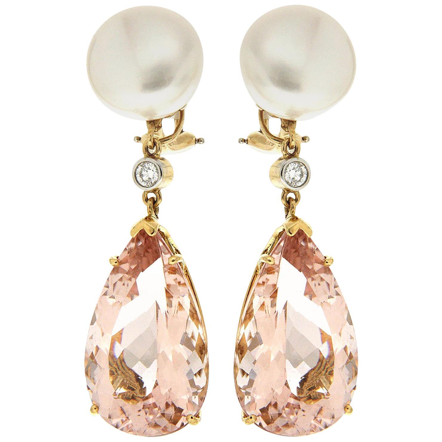 Valentin Magro Pearl Morganite Drop Earrings
