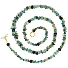 Valentin Magro Peruvian Opal Black Mother of Pearl Necklace