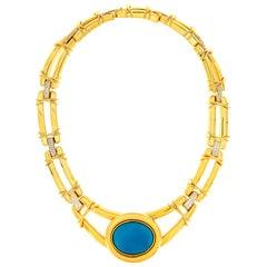 Valentin Magro Removable Turquoise Cabochon 18 Karat Necklace