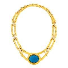 Valentin Magro Removable Turquoise Cabochon 18 Karat Necklace