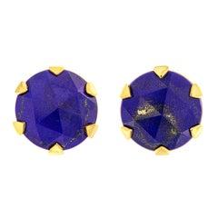Valentin Magro Rose Cut Lapis Stud Earrings