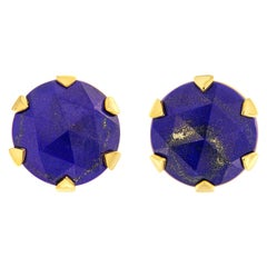 Valentin Magro Rose Cut Lapis Stud Earrings