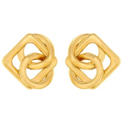 Valentin Magro Round and Square Motif Gold Circus Earrings