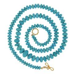 Valentin Magro Roundel Turquoise Necklace