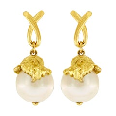 Valentin Magro Seahorse Wrapping Around South Sea Pearl Earrings