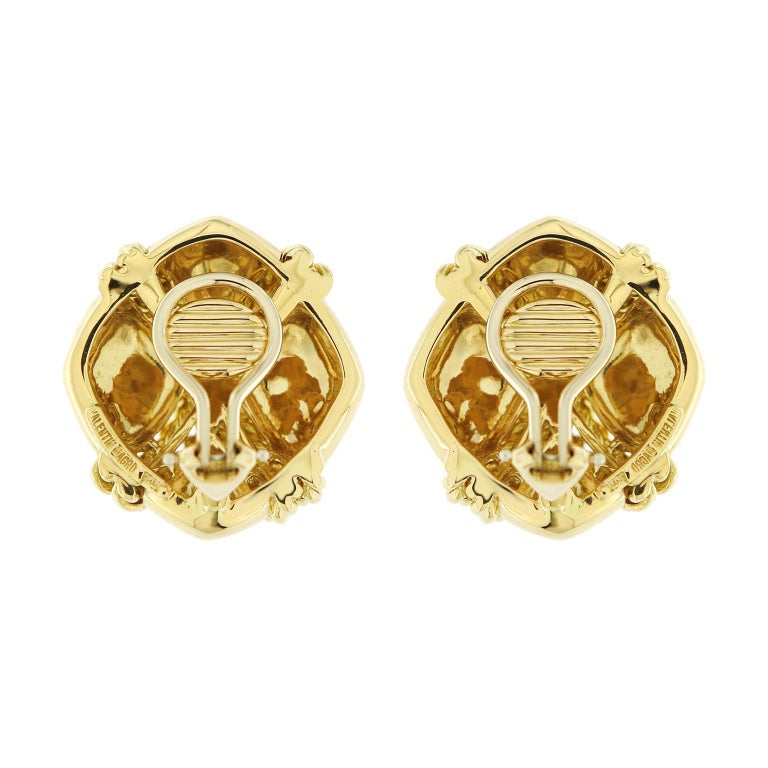 Women's Valentin Magro Small Gold Criss Cross Earrings For Sale