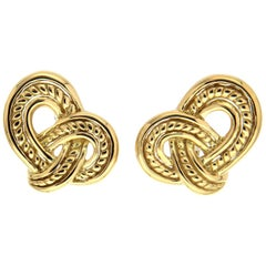 Valentin Magro Small Gold Rope and Wire Overlap Earrings