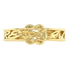 Valentin Magro Small I Love Me More, Love Knot Ring, in 18 Karat Yellow Gold