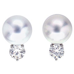 Valentin Magro South Sea Pearl Diamond Earrings with Push Posts