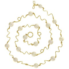 Valentin Magro South Sea Pearl Wave Necklace