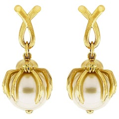 Valentin Magro Spider South Sea Pearl Earrings