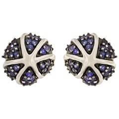 Valentin Magro Starfish on the Rocks Earrings with Blue Sapphires