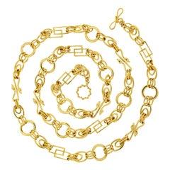 Valentin Magro Swan Motifs Multi Shape Chain Necklace