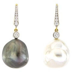 Valentin Magro Tahitian and South Sea Baroque Pearl Earrings