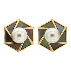 Valentin Magro Tahitian Nacre South Sea Pearl Earrings