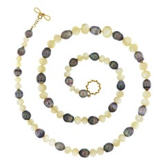 Valentin Magro Tahitian Pearl and Mother of Pearl Necklace