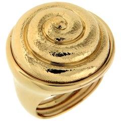 Valentin Magro Textured 18 Karat Yellow Gold Snail Ring