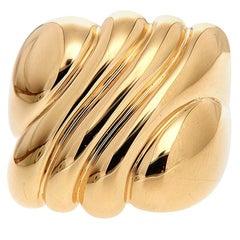 Valentin Magro Textured Gold Ring in 18 Karat Yellow Gold