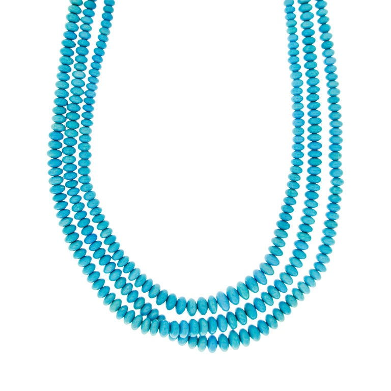 Valentin Magro Three-Strand Turquoise Necklace In New Condition For Sale In New York, NY