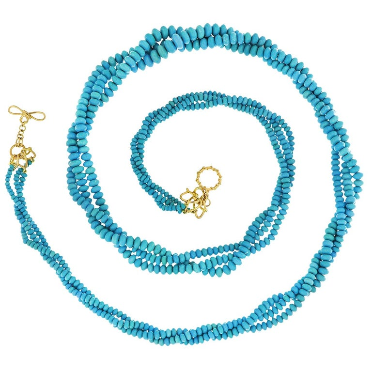Valentin Magro Three-Strand Turquoise Necklace For Sale