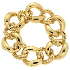 Valentin Magro Twisted Wire and Oval Link Gold Bracelet