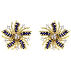 Valentin Magro Viva el Sol Diamond Sapphire Earrings