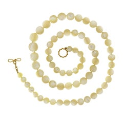 Valentin Magro White Mother of Pearl Ball Necklace