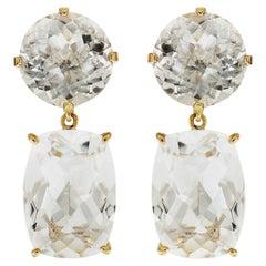 Valentin Magro White Topaz Drop Earrings