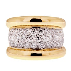 Valentin Magro Wide Pave Diamond Ring