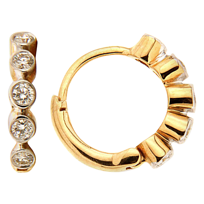 Valentin Magro Yellow Gold Diamond Earrings