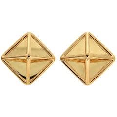 Valentin Magro Yellow Gold Extra Small Pyramid Earrings